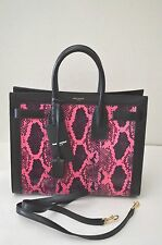 $4,950 Yves Saint Laurent YSL SMALL Sac De Jour Bag Python NEW BLACK