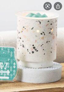 SCENTSY Terrazzo Wax Warmer – Stone Look Scentsy Warmer -New Each One Is Unique