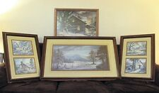 LEE ROBERSON COLLECTION OF 6 SIGNED & NUMBERED PRINTS CADES COVE SNUGGED IN