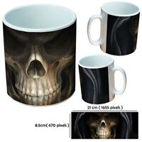 SKULL MUGS PERSONALISED CUSTOM TEA OR COFFEE MUG GIFT FOR SKULLS LOVER