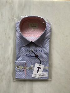 Ted Baker Endurance Brand New Shirt. Diamond Pattern.size 16