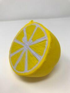 1pc Jumbo Squishy Half Lemon Fruit Scented Super Slow Rising Keyring Kid Fun Toy