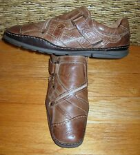 AM SHOE COMPANY MEN'S BROWN LEATHER SLIP-ON CASUAL COMFORT LOAFERS SIZE 12