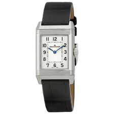 Jaeger LeCoultre Reverso Classic Silver Dial Ladies Leather Watch Q2608530