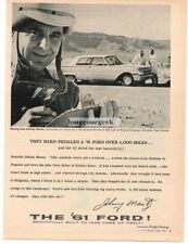 1961 Ford Galaxie Johnny Mantz Racing Ace Automobile Car Vtg Print Ad