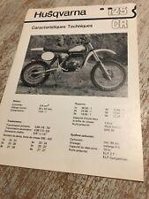 02 Husqvarna 125CR 125 CR caracteristiques Fiche technique moto vintage