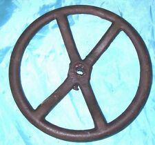 11'' Cast Iron WHEEL Primitive Cast Iron gear vintage barn Industrial Punk 549