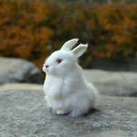 14cm Lifelike Rabbit Plush Toy Simulation Stuffed Animal Fluffy Doll Kids Gift