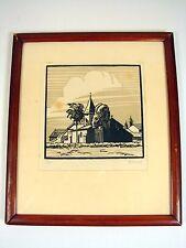 Gravure Originale sur Bois Signée et Numérotée 3/35, Cadre