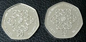 2010 & 2019 Girl Guides 50p Fifty Pence Coins Set - Royal Mint BUNC