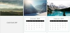 Landscape Photography 2019 A3 Wall Calendar, start any month, beautiful gift