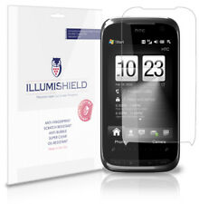 iLLumiShield Phone Screen Protector w Anti-Bubble/Print 3x for HTC Touch Pro 2