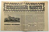 1976 Vtg Menu LT. ROBERT E. LEE Mississippi Riverboat Restaurant St. Louis MO