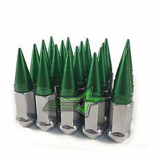 20 CHROME / GREEN SPIKED LUG NUTS 12X1.25 | FOR: INFINITI G35 G37 Q50 Q60 Q70