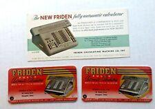 1950's Advertising Blotter For New Friden Automatic Calculator Blotter
