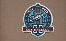 NEW 4 X 4 1/2 INCH LOS ANGELES DODGERS 60 SEASONS IRON ON PATCH FREE SHIPPING