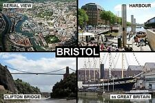 SOUVENIR FRIDGE MAGNET of BRISTOL ENGLAND