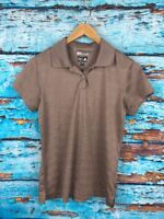 ADIDAS Climacool Women's Brown Short Sleeve Golf Polo Athletic Top Size S