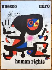 Miro Joan Affiche en lithographie Human Rights abstract art abstrait surréalisme