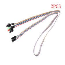 2pcs 65cm Long Power Button Switch Cable for PC Reset Computer ESCA