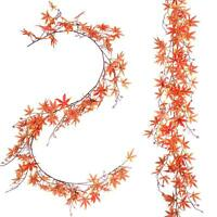 Artificial Fall Maple Leaf Garland Decoration Plant Hanging Home Wedding Decor