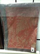 S/4 Williams Sonoma Forest Jacquard Placemat Place Mat Linen Rust Mushroom