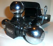 """BUYERS TRI-BALL PINTLE HOOK TOWING HITCH w SHANK, 3 Balls in 1 , 2"""" Receiver USA"""