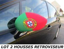 Pack 2 Housses PORTUGAL PORTUGAIS Rétroviseur Voiture drapeau fanion maillot ...