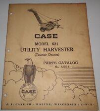 Case 621 Utility Harvester Parts Catalog Manual book Original Tractor Drawn