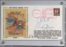 1993 World Series COMPLETE Autographed Gateway 7 SIGNATURES Schilling, Dykstra