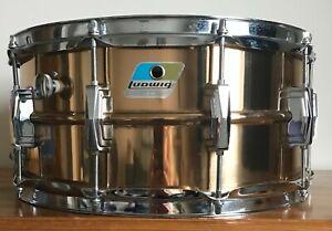 Ludwig Vintage Snare Drum 1980s Bronze Model 14 x 6.5