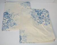 2 Ralph Lauren Catalina Island Blue Cream Floral Standard Shams