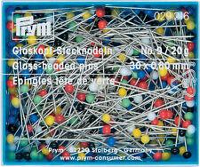 Prym Glass-headed pins 30mm x 0.60  20g