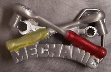 Pewter Belt Buckle Tradesman Auto Mechanic Crossed Socket Wrenches NEW