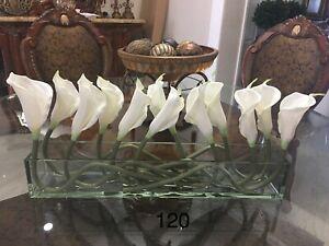 Silk floral arrangement centerpiece, artificial flower arrangement