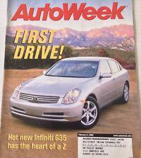 AutoWeek Magazine Infiniti G35 Beyond The Z February 4, 2002 080217nonrh
