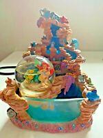Disney Little Mermaid Ariel Snow Globe Light Water Fountain  **WORKS**