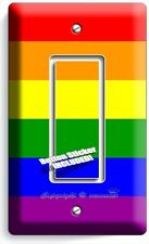 RAINBOW COLORS FLAG SINGLE GFCI LIGHT SWITCH WALL PLATE DECOR GAY LESBIAN PRIDE