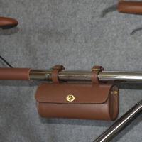 Vintage Leather Bicycle Front Tube Frame Bag Retro Bike Saddle Bag Handbar Bag