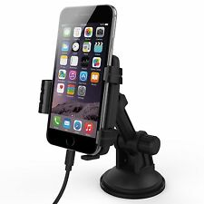 Kidigi Suction Cup Car Mount Holder Cradle Charger for Apple iPhone 6 / 6s Plus