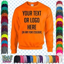 Custom Personalised Unisex Printed SWEATSHIRT Jumper Name Workwear-Yr text/logo3