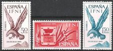 Colonias españolas Ifni 1965 Día del Sello Escudo Águila Imperial 215 - 217 estampillada sin montar o nunca montada Fino