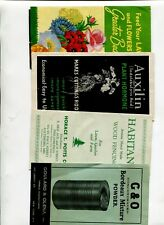 Vintage Brochures set of 4 GARDENING HORTICULTURE plant fertilizer chemicals etc
