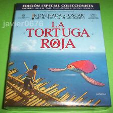LA TORTUGA ROJA EDICION COLECCIONISTA BLU-RAY DVD BSO LIBRETO NUEVO Y PRECINTADO