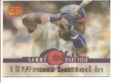 """1996 Pinnacle Sport Flix #57 SAMMY SOSA """"119 Runs Batted In"""" Baseball Card"""