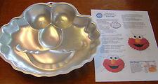 Wilton Cake Pan Elmo Face 2002 + Instructions