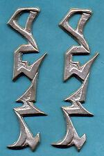 Star Trek Klingon Warrior Gauntlet/Cuff Glyphs Set -- Silver