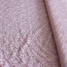 JOHN LOUDEN Cotton Lace Fabric - PINK - 150cm Wide - Free P&P