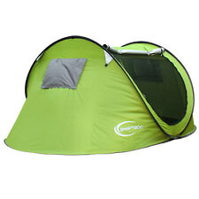Large 3-4 Person Outdoor Camping Instant Tent Pop Up Hiking Beach Shelter Green