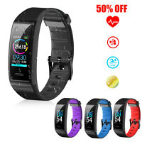 Fitness Tracker Smart Wristband Sport Watch Pedometer Calorie Heart Rate Monitor